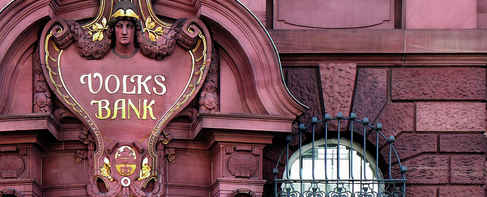 Volksbank Darmstadt - Südhessen eG Hügelstraße 8-12, 64218 Darmstadt, Portaleingang Hügelstraße